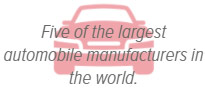 Five of the largest automobile manufacturers in the world