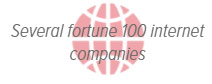 Several Fortune 100 internet companies